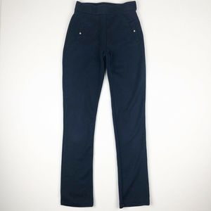 E Land American Classic Navy Pull On Pants Size 12